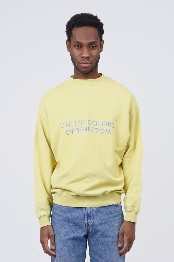 Vintage 90's Benetton Yellow Sweatshirt