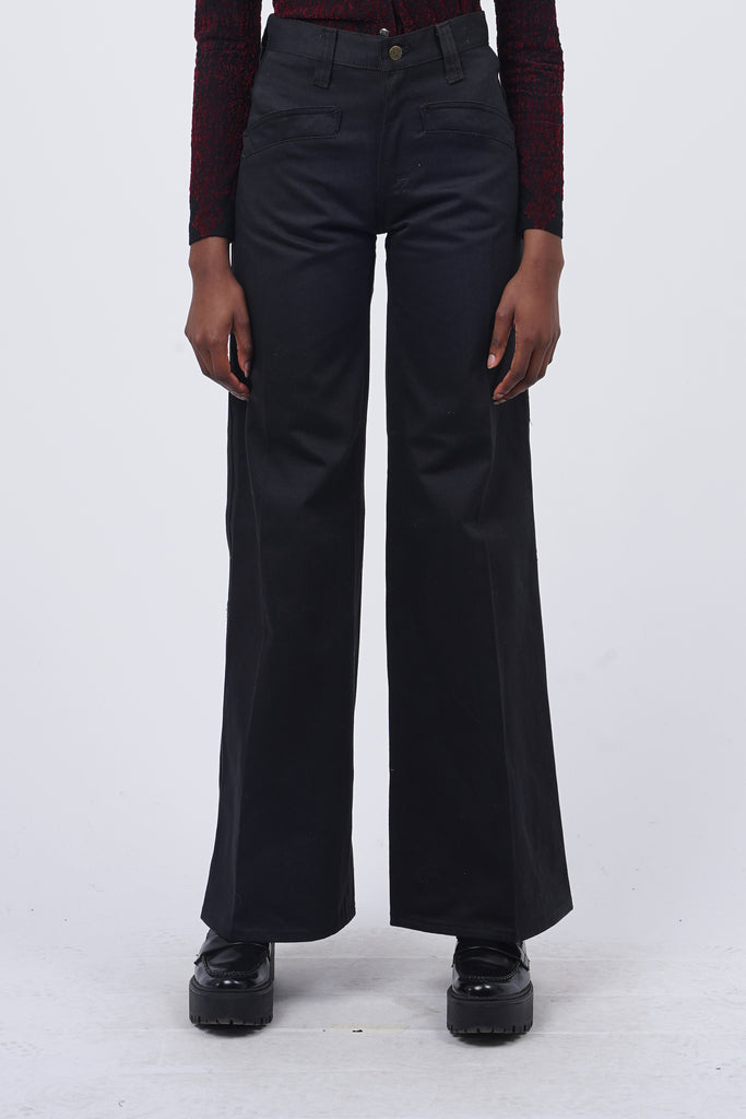 Vintage 70's Lee Deadstock Black Flare Trousers