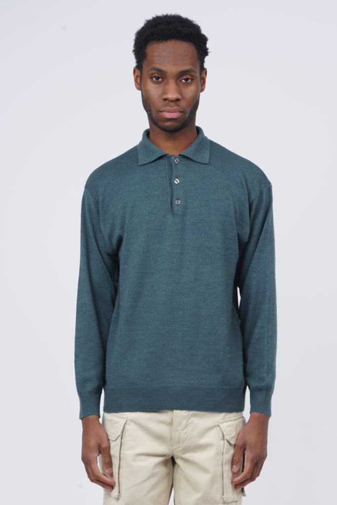 Vintage 90's Valentino Dark Green Polo Shirt Jumper
