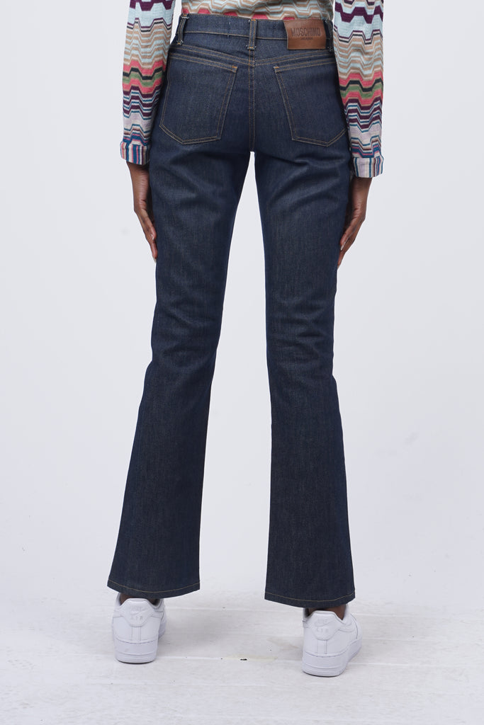 Vintage 90's Moschino Denim Blue Flare Jeans
