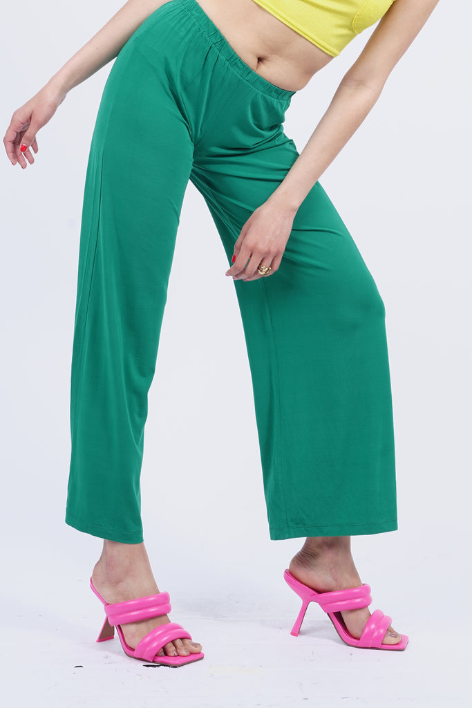 Vintage 90's Maxmara Emerald Green Wide Leg Relax Trousers