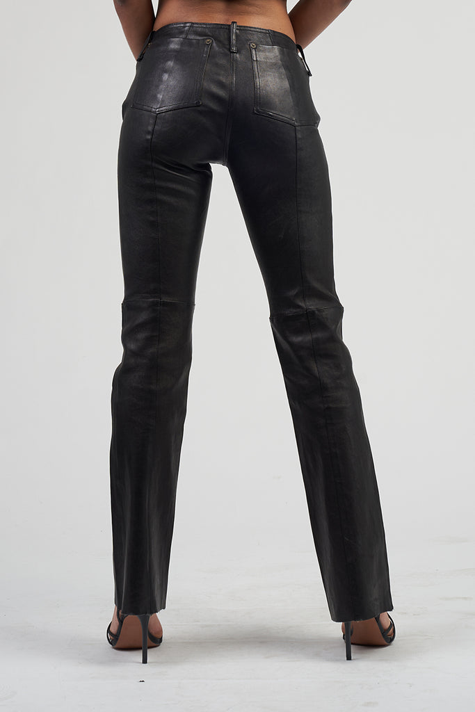 Vintage Premium Low Rise 90's Patrizia Pepe Leather Trousers