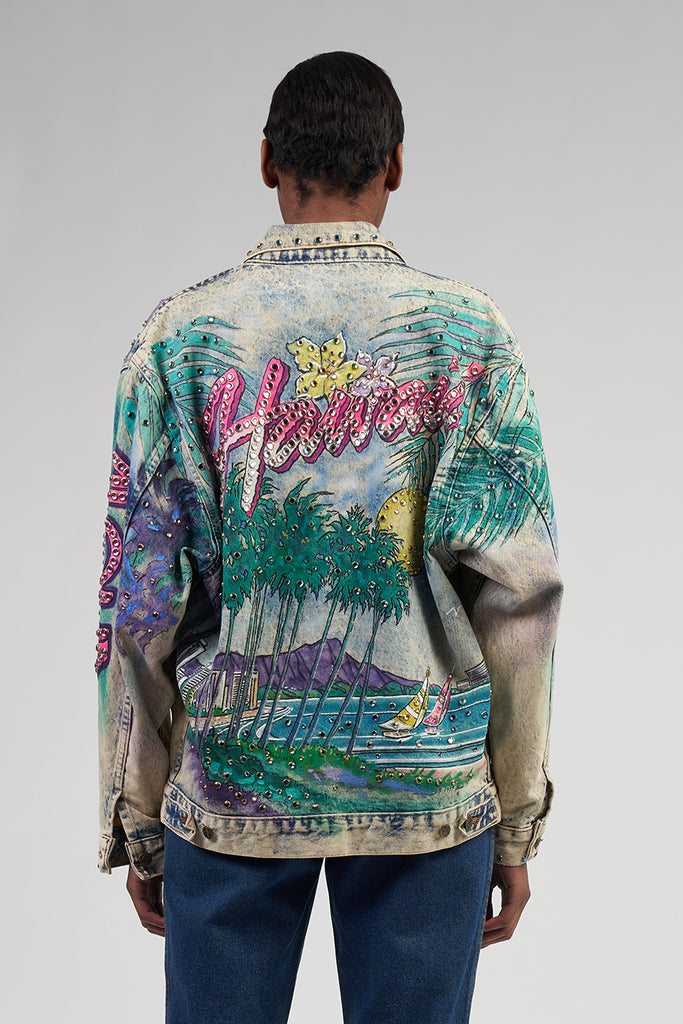Collectible The Tony Alamo Hawaii Rhinestone Denim Jacket