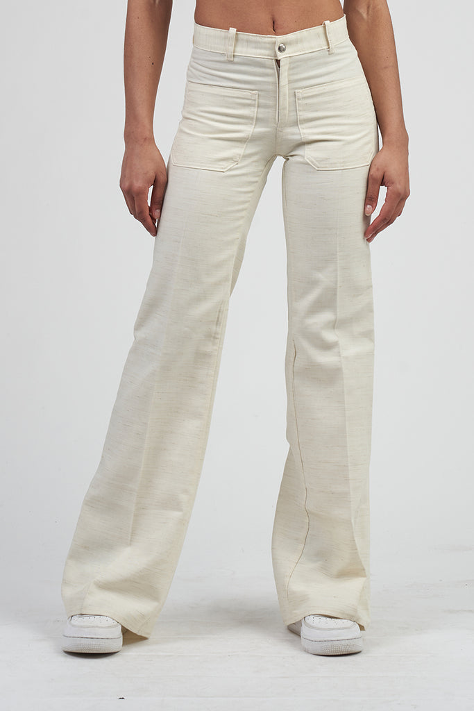 Vintage 70's Cream Flared 70's Trousers