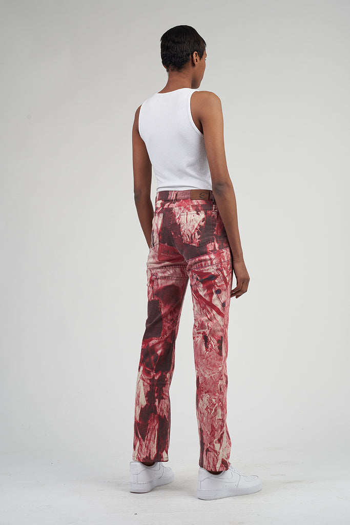 Vintage High Waisted  90's Paint Splatted Just Cavalli Jeans