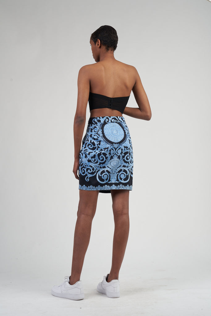 Vintage Premium Early 90's Gianni Versace Medusa Pencil Skirt