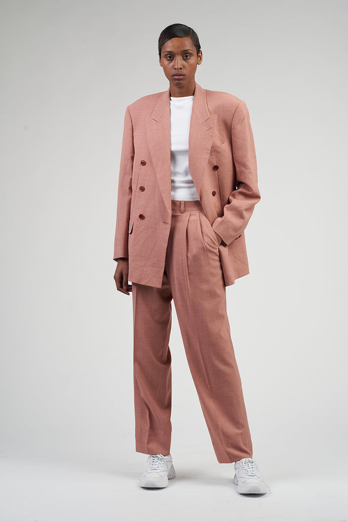 Vintage Peach Deadstock 90's Missoni Double Breasted Suit