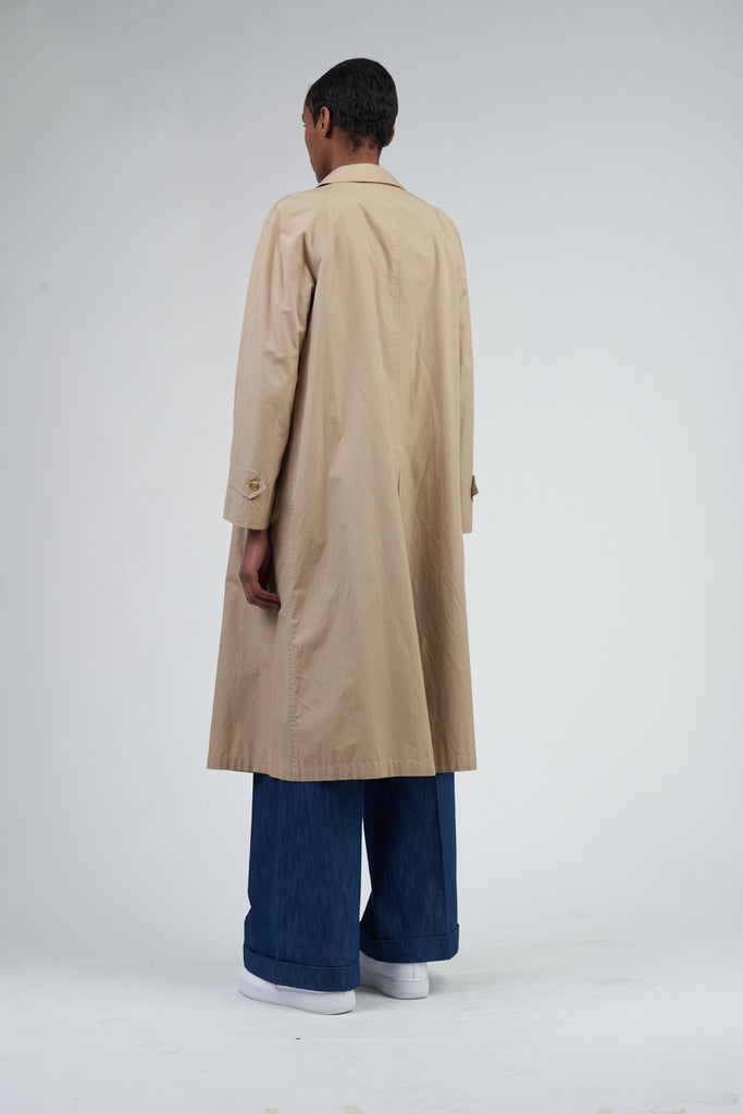 Vintage 90's Burberry Beige Summer Overcoat