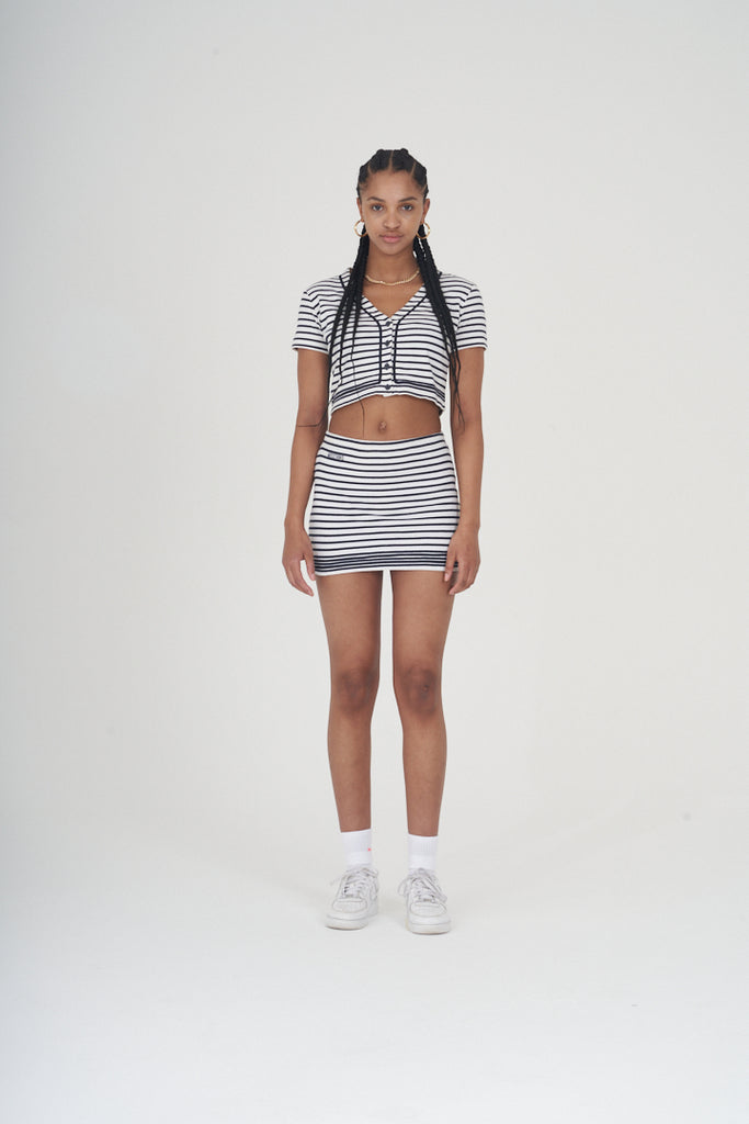 Vintage 90's Moschino striped co-ord