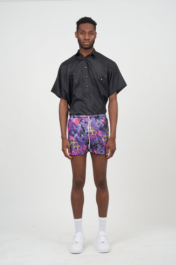 Vintage 90's Olympic Print Satin Shorts