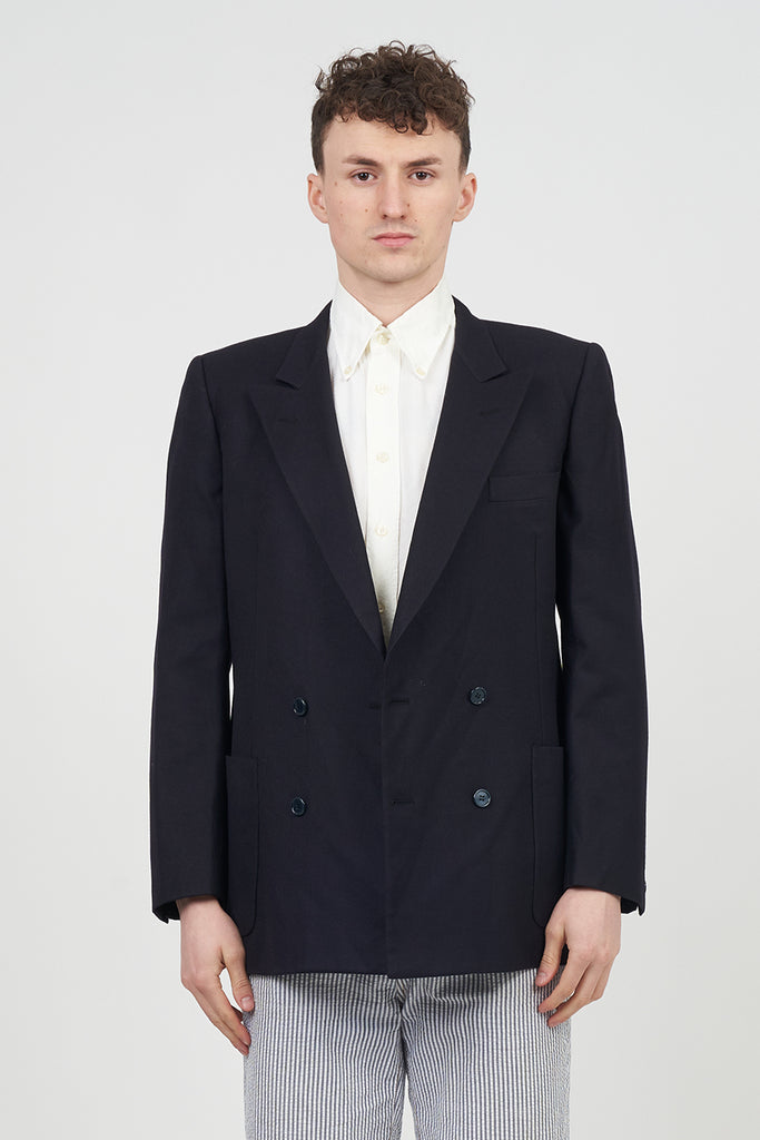 Classic Vintage 90's Double Breasted Burberry Navy Blazer