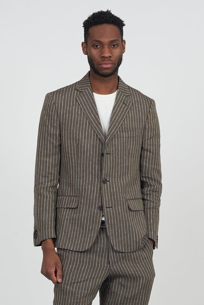 Vintage 90's Linen Pinstriped Tailord Suit