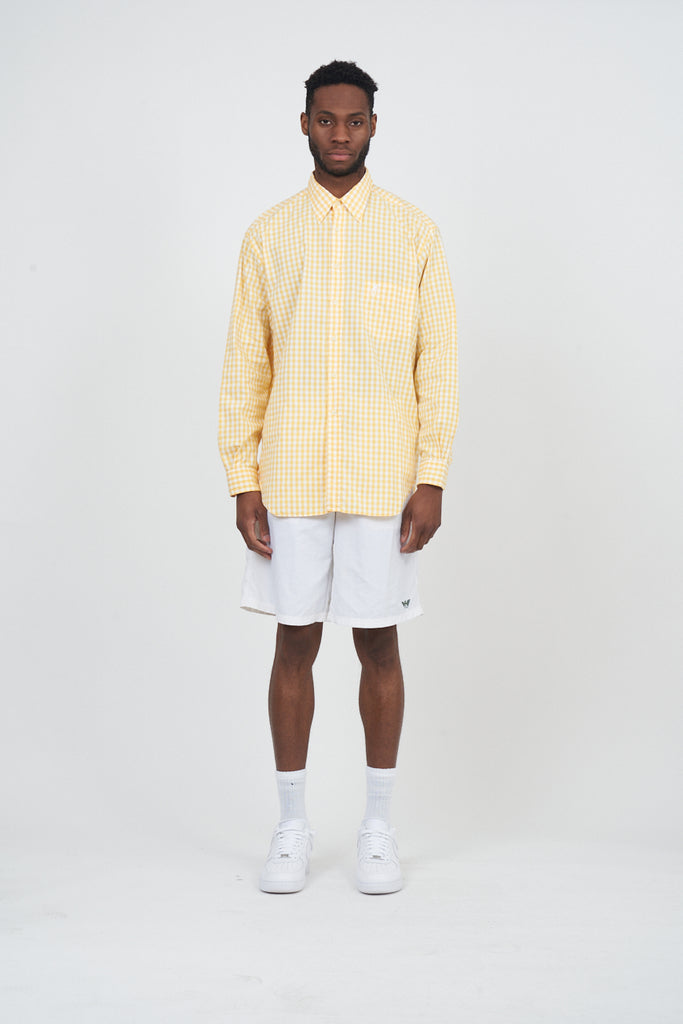 Vintage Houndstooth Yellow Moschino Oxford Shirt