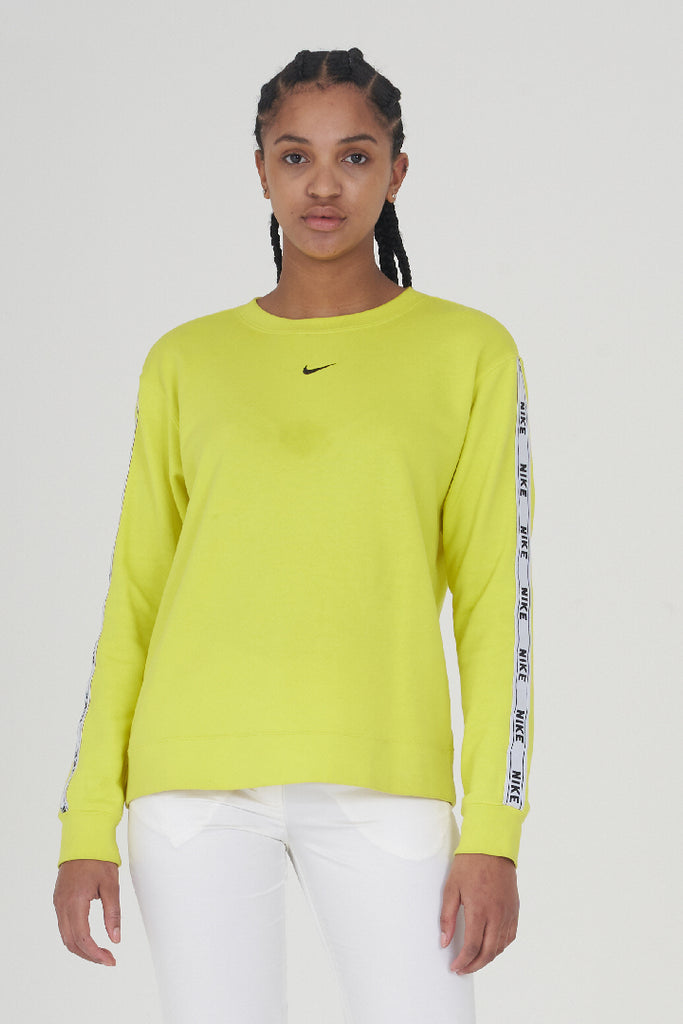 Vintage 2000s Nike Neon Yellow Tapered Sleeve Sweater