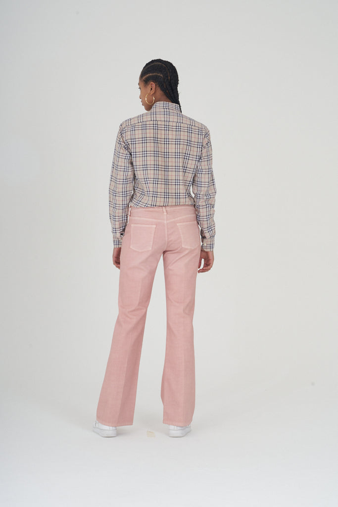 Vintage 90s Armani Dusty Pink Boot Cut Jeans