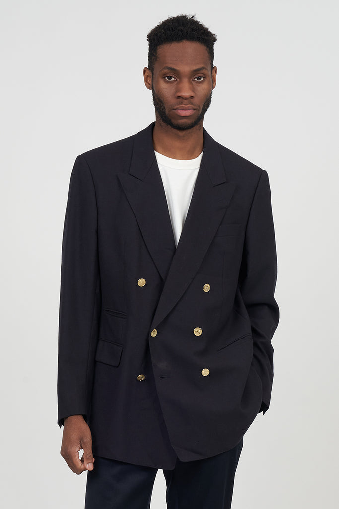 Vintage 90's Navy Blue Double Breasted Burberry Blazer