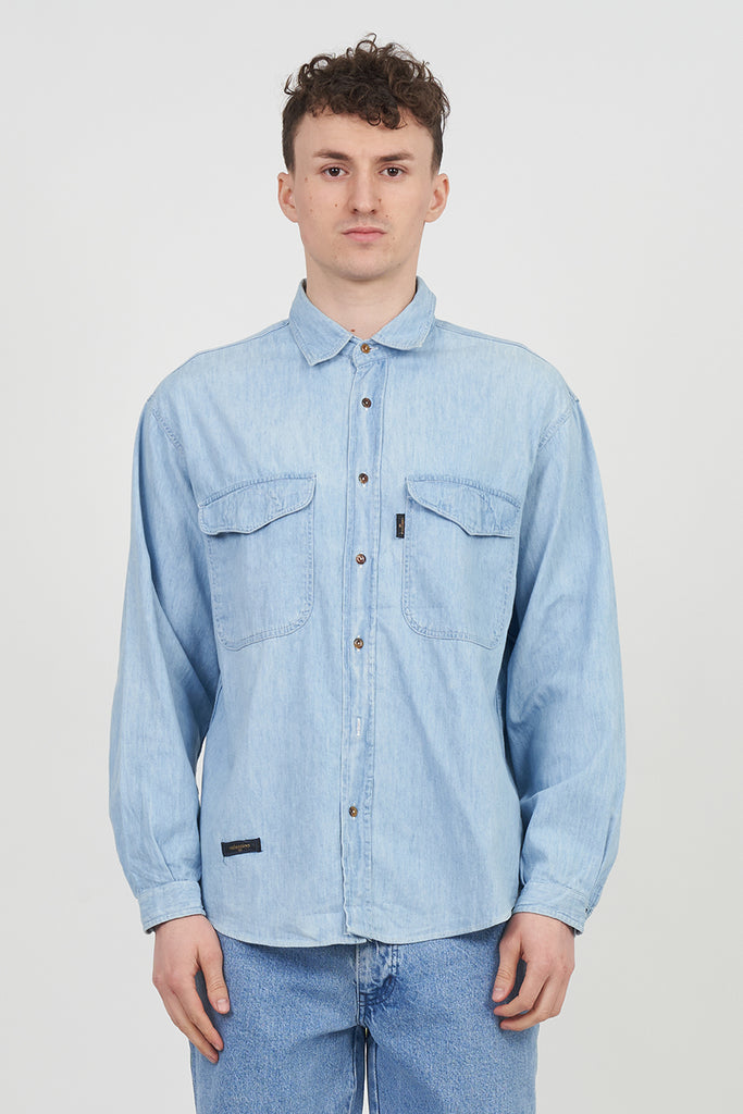 Vintage Light Wash 90s Denim Valentino Shirt
