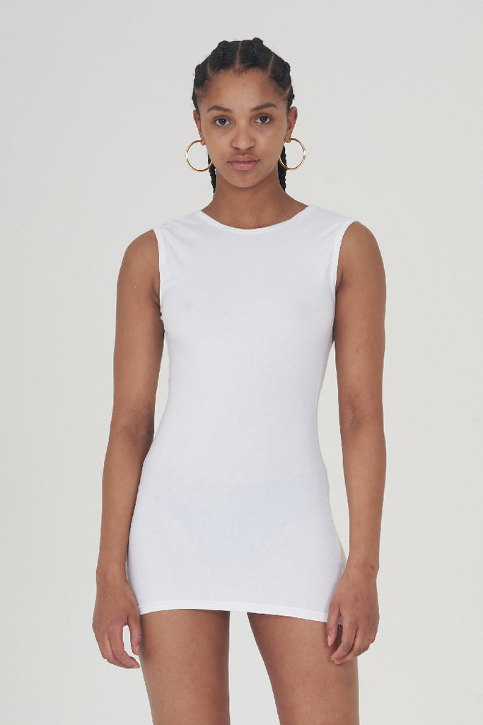 Vintage 90's White Cut Out Back Moschino Bodycon Dress