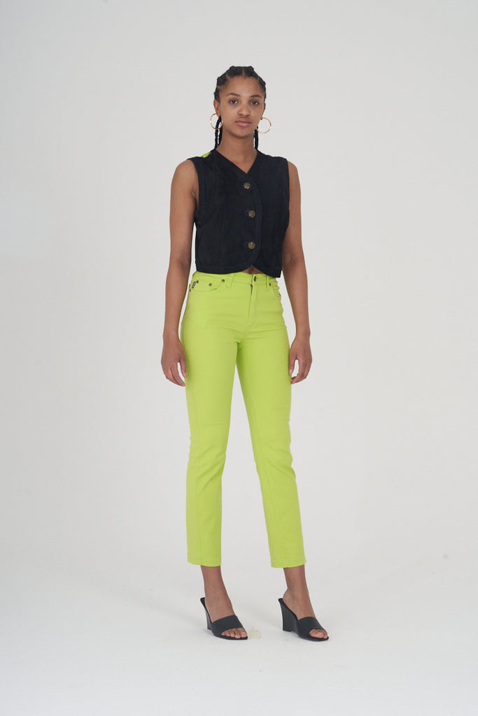 Vintage 90's Neon Green High Waisted Moschino Jeans