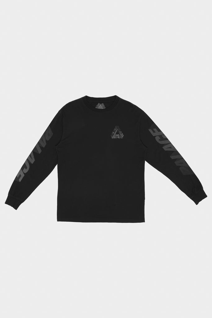 Rare 2017 Palace Triferg Long sleeve Black T-shirt