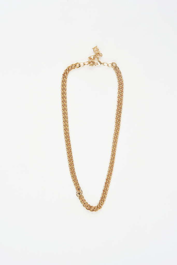 Gold Plated Flat Chain Necklace