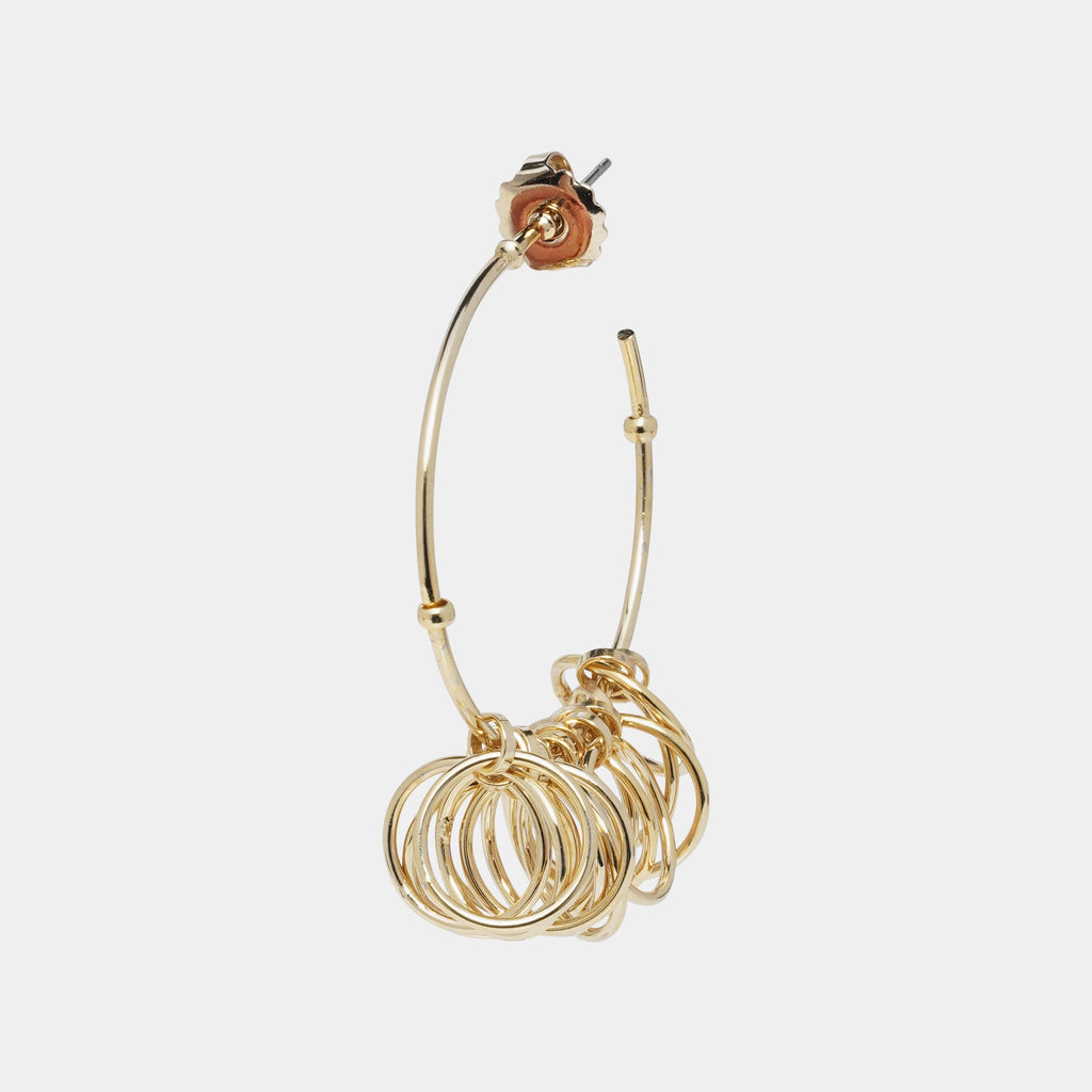 Gold Plated Spin Me Around Hoop Earrings