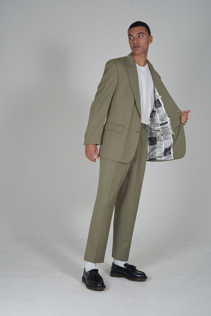 Vintage 90's Moschino Cheap and Chic beige suit