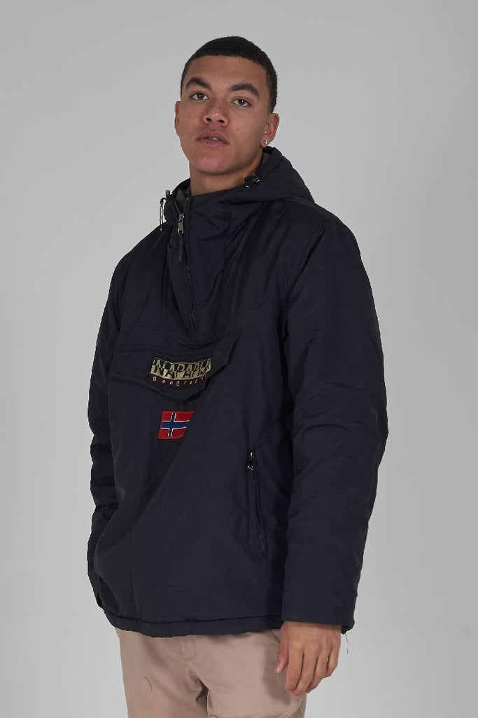 Napapijri vintage black winter 90's parka