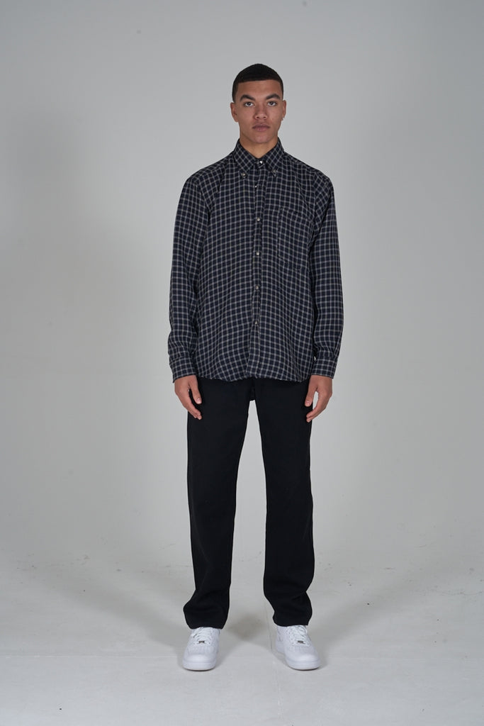 Vintage 90's Versace monochrome checked shirt