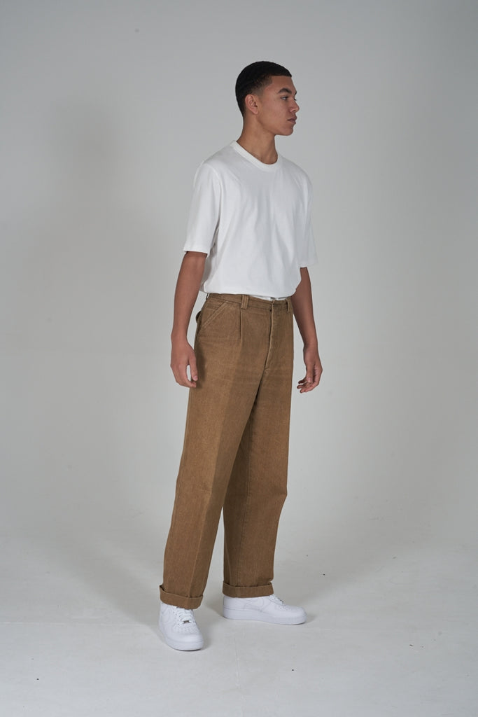 Vintage 90's Burberry beige workman trousers