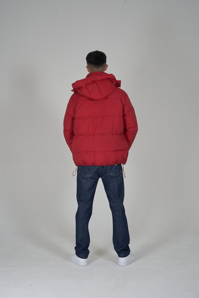 Vintage red Dolce&Gabbana 90's hooded puffer jacket