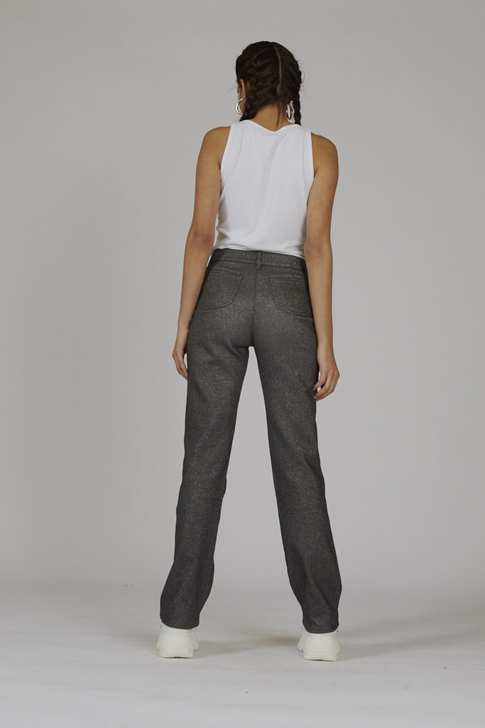 Vintage 90's high waisted flared sparkle Roccobarocco trousers