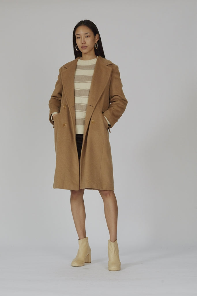 Vintage double breasted camel MaxMara coat
