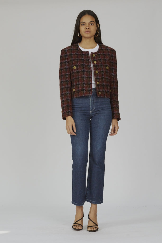 Vintage Moschino 90's cropped tweed jack