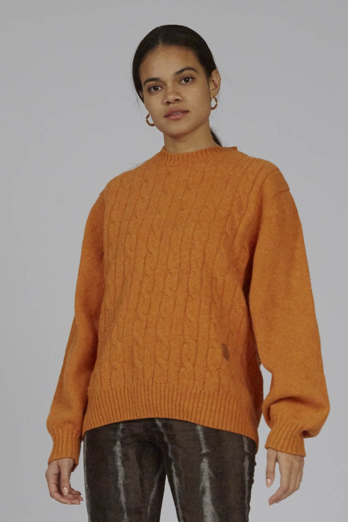 Vintage 90s Trussardi orange wool jumper