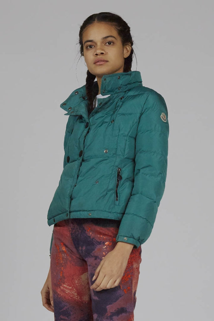 Vintage emerald green 90's Moncler puffer