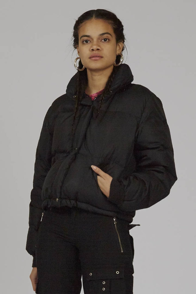 Vintage cropped black Replay 90's down puffer