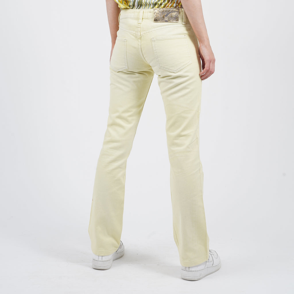 Vintage 90's Just Cavalli Yellow Cream Jeans
