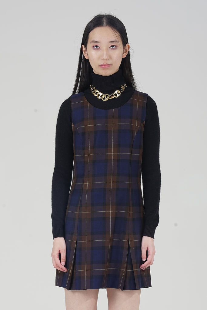 Vintage 90s Tartan Mini Dress