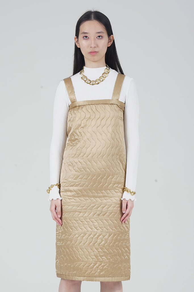 Premium Vintage 1970s Fendi Gold Padded Dress