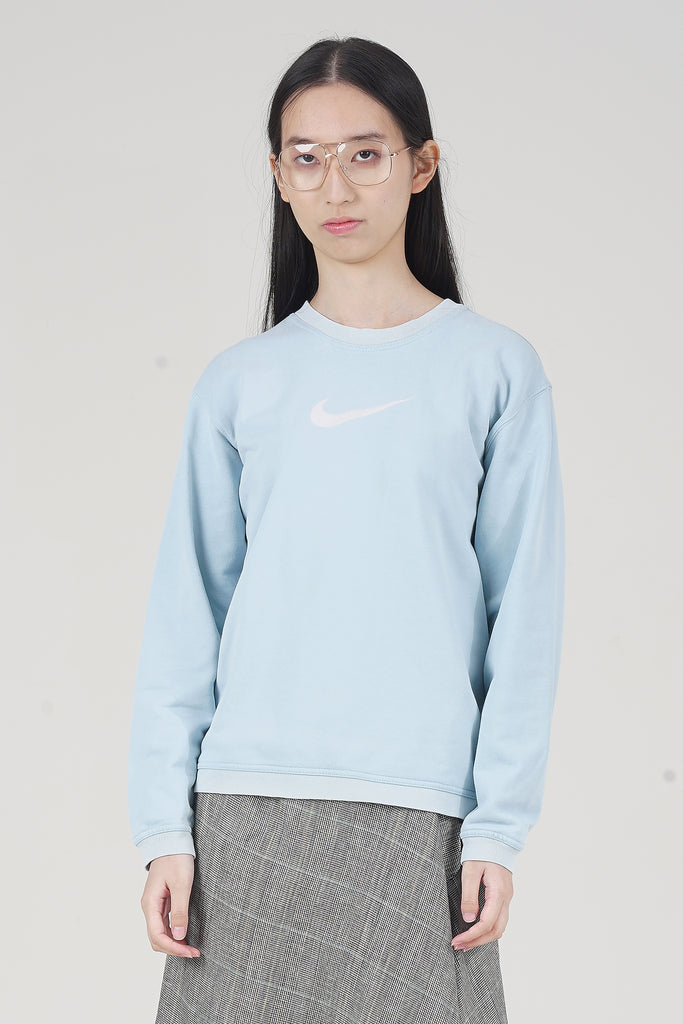Vintage 2000 Light Blue Nike Tick Sweater