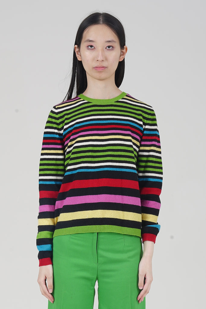 Vintage United Colours of Benetton 2000 Striped Knit Jumper
