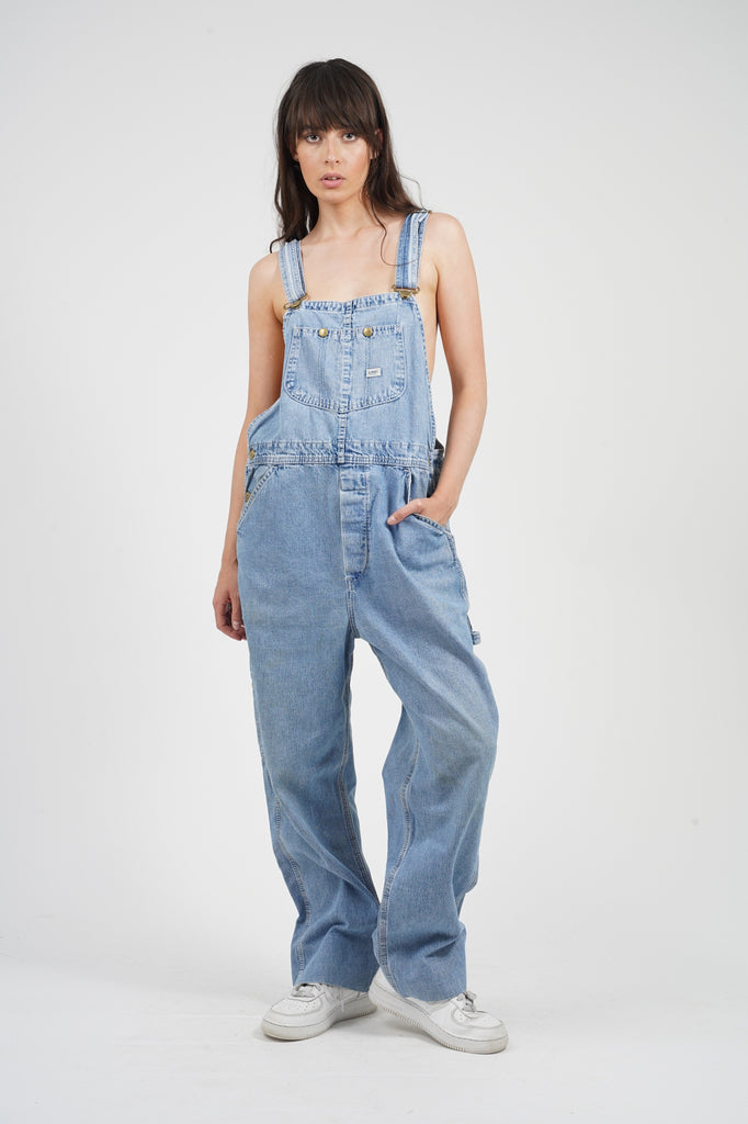 Vintage 90's Lee  Light Wash Dungarees