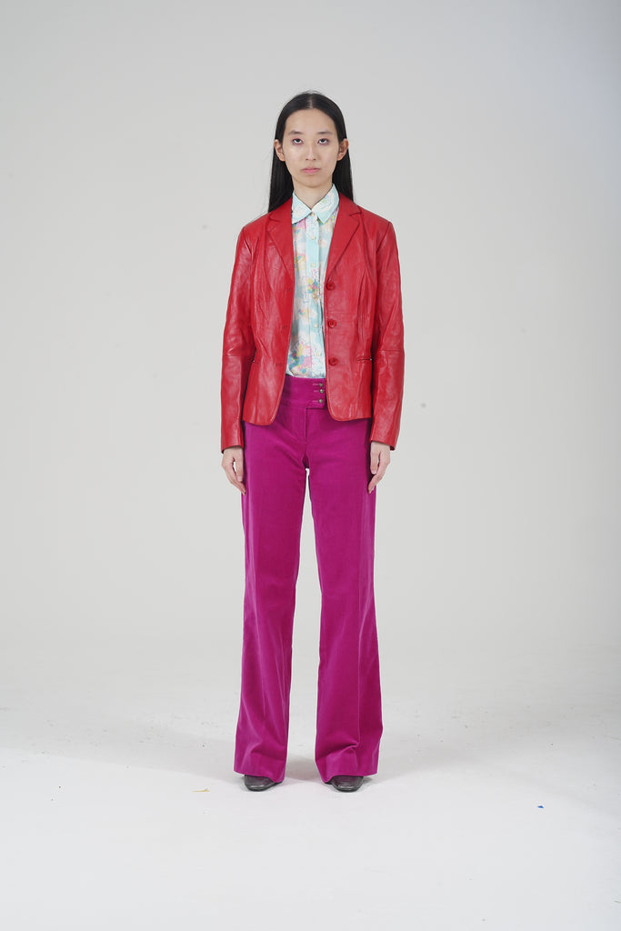 Vintage 2000 Red Leather Blazer