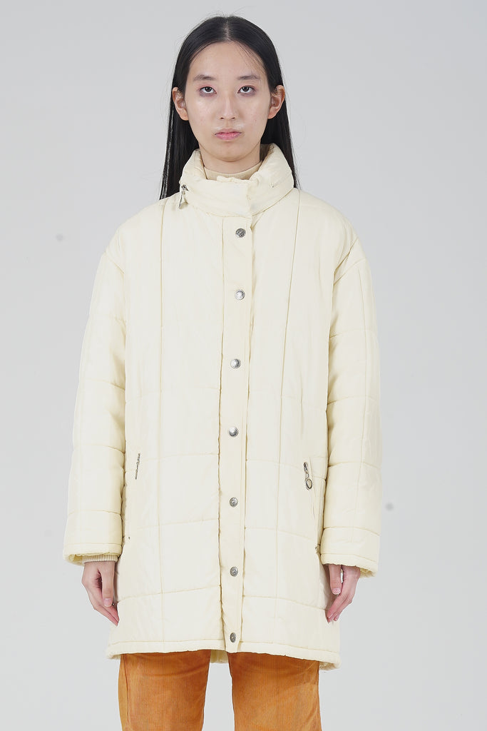 Vintage 90s Moschino Cream Puffer Jacket