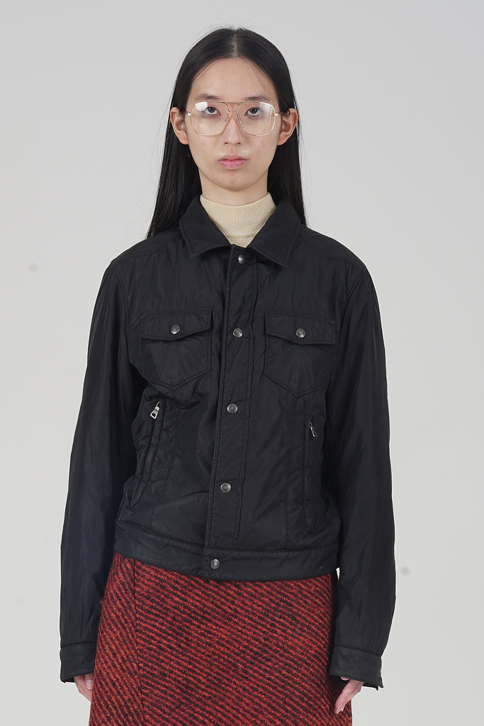 Vintage 90's Prada Padded Black Tracker Jacket