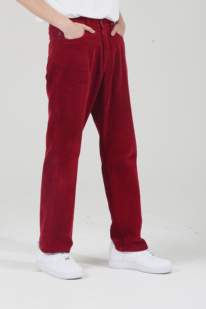 Vintage 90's Wine Polo Ralph Lauren  Red Corduroy Straight Leg Trousers