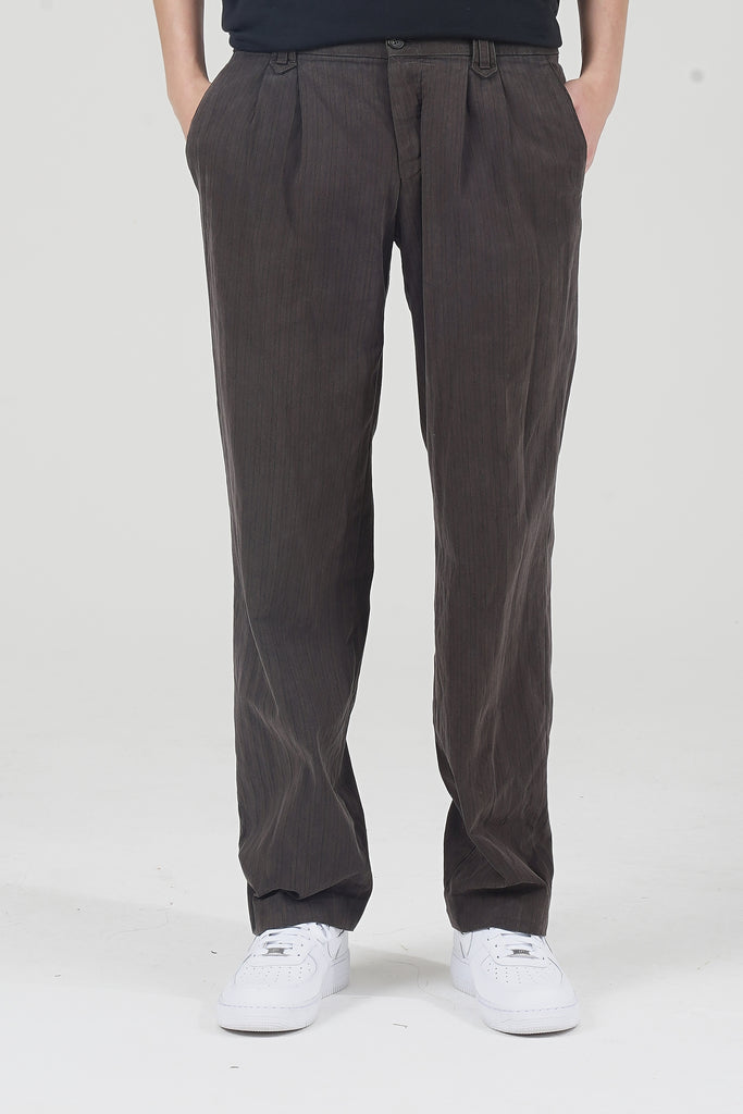Vintage 90's Brown Striped Brown D&G Trousers