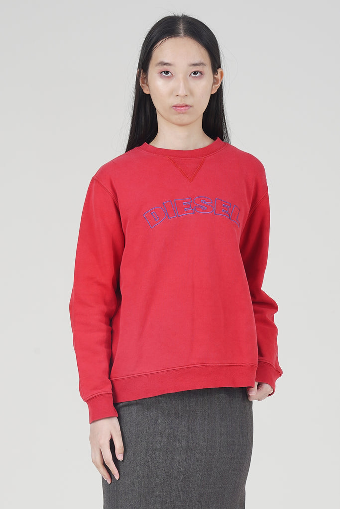 Vintage 90's Red Logo Diesel Sweater
