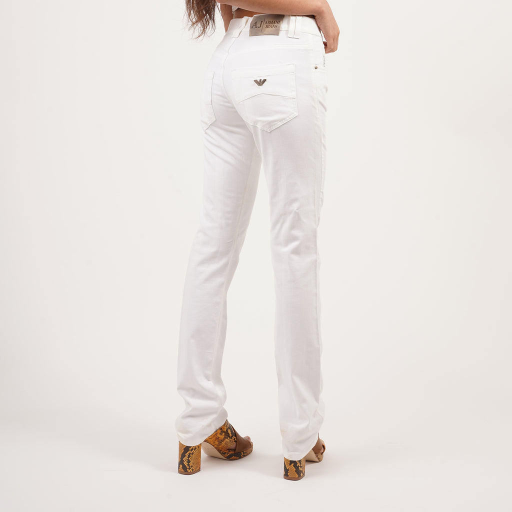 Vintage 90's striped white Armani jeans